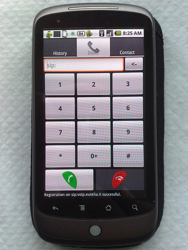 android linphone sip voip app