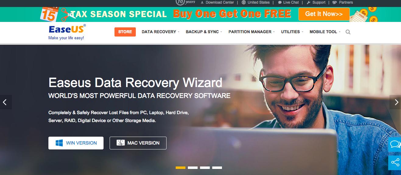 あ、大切なファイルを消しちゃった(T . T)そんな時は「EaseUS Data Recovery Wizard」で復旧できるぞ!