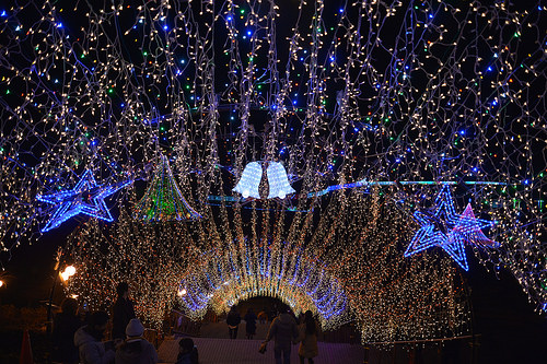 [夜景]宮が背ダムのクリスマスイルミネーションは今年もすさまじくきれいだった
