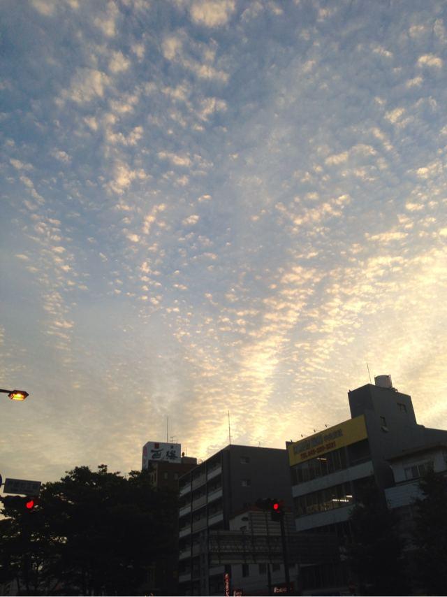 夕日が綺麗な横浜高島町