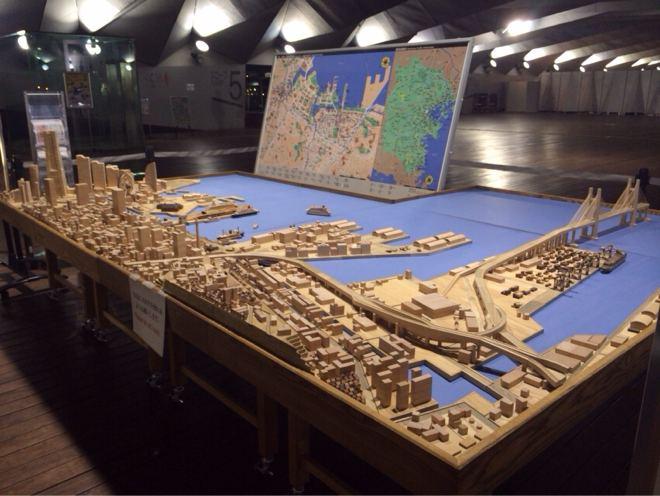 大桟橋積み木模型