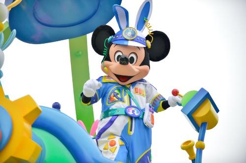 2017年ディズニーイースター「うさたま大脱走」キャラクター写真編(目線が残念・・・)