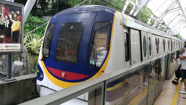 九龍(カオルーン)付近のホテルから香港ディズニーランドへ電車で行ってみた