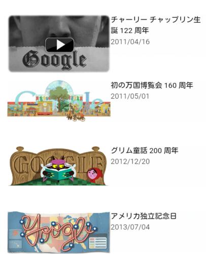 過去のGoogle Doodleはここでみれるよ!!しってた?